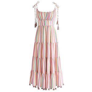 New Chicwish Rainbow Candies Stripes Max Dress